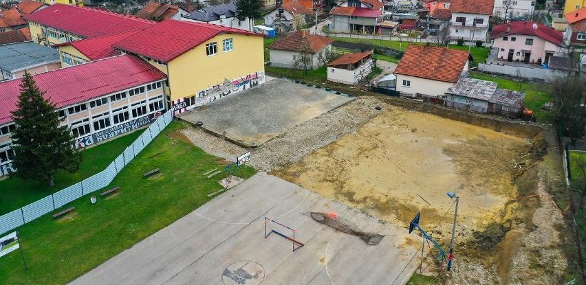 Nastavak radova na izgradnji sportske dvorane na Laušu