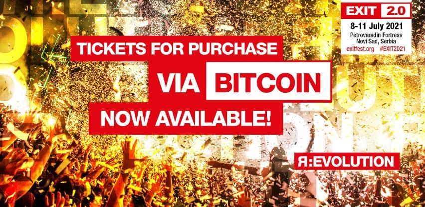 Exit festival omogućio kupovinu ulaznica bitcoinom