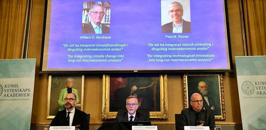 Nordhaus i Romer dobitnici ovogodišnje Nobelove nagrade za ekonomiju