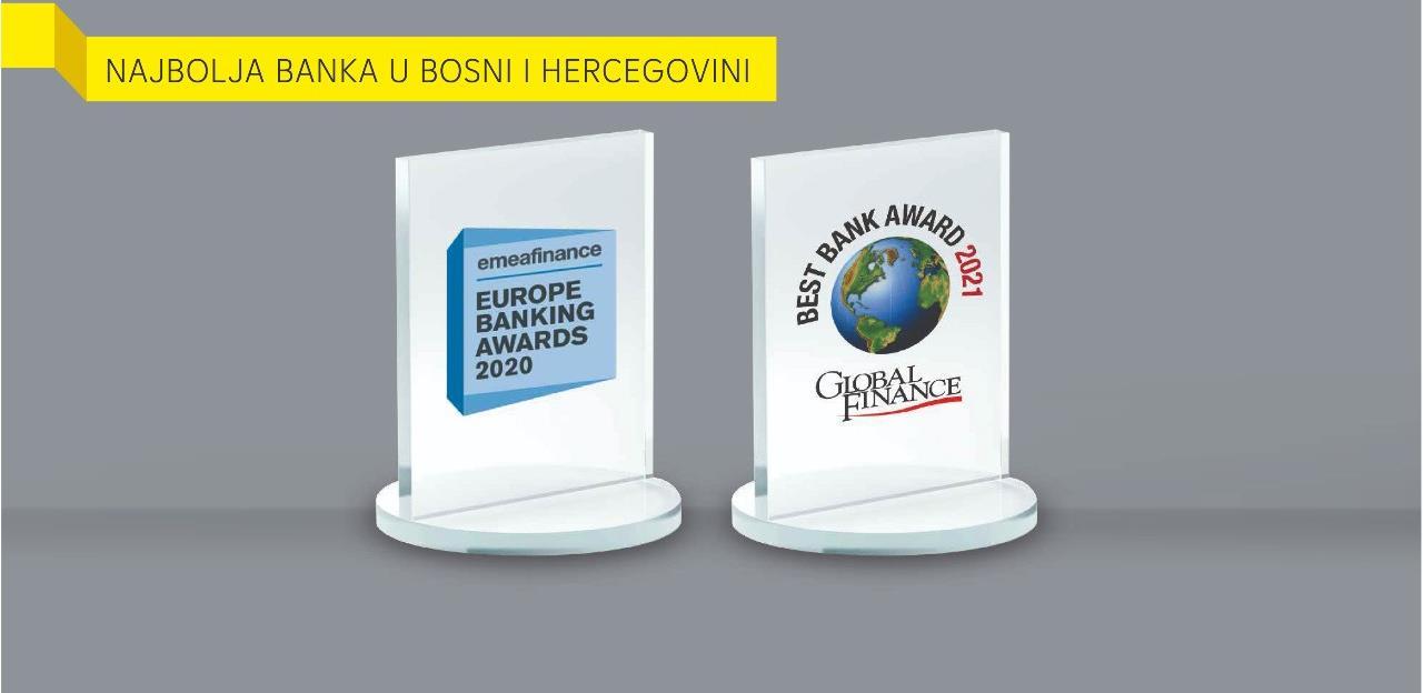 Raiffeisen dobitnik dvije nagrade za najbolju banku u BiH