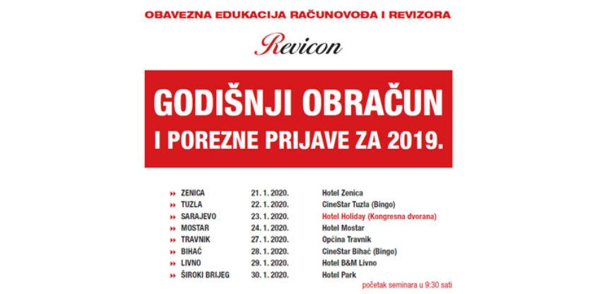 Edukacija računovođa i revizora - Godišnji obračun i porzene prijave 2019.