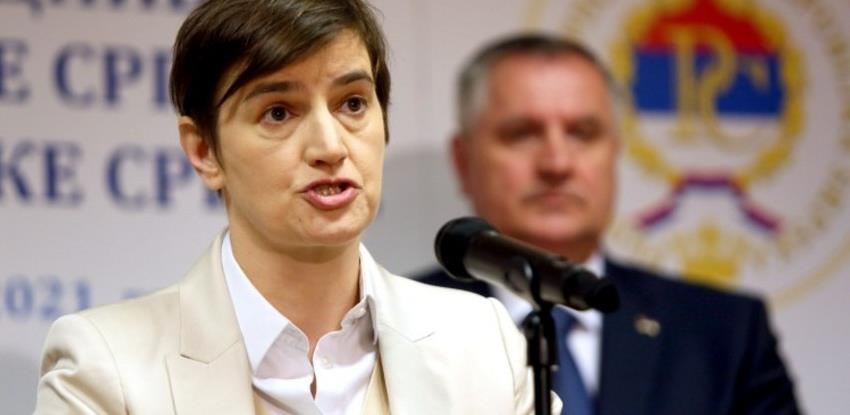 Brnabić: Srbija izdvaja oko 500 miliona eura za projekte u Republici Srpskoj