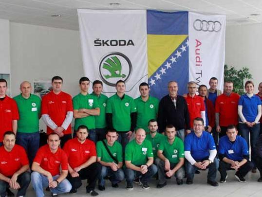 U Sarajevu održano državno finale ovlaštenih Audi i Škoda partnera