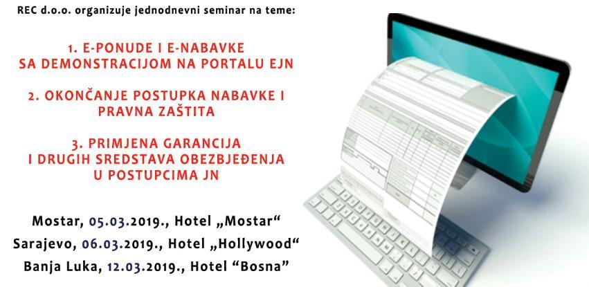 REC d.o.o. organizuje jednodnevni seminar na temu JAVNE NABAVKE