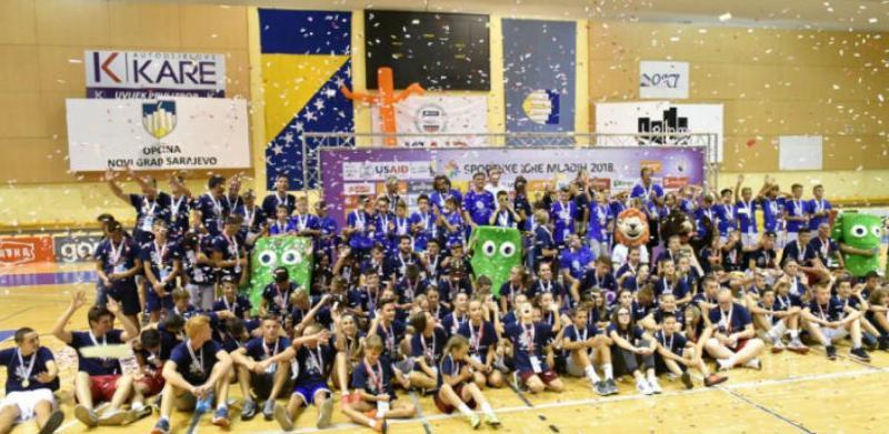 Dodjela medalja u sklopu osmih BH Telecom Sportskih igara mladih