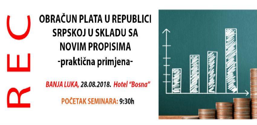 REC seminar: Obračun plata u Republici Srpskoj u skladu sa novim propisima