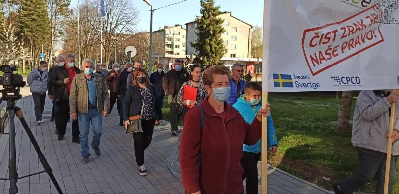 Lukavac: Protestna šetnja zbog prekomjerno zagađenog zraka