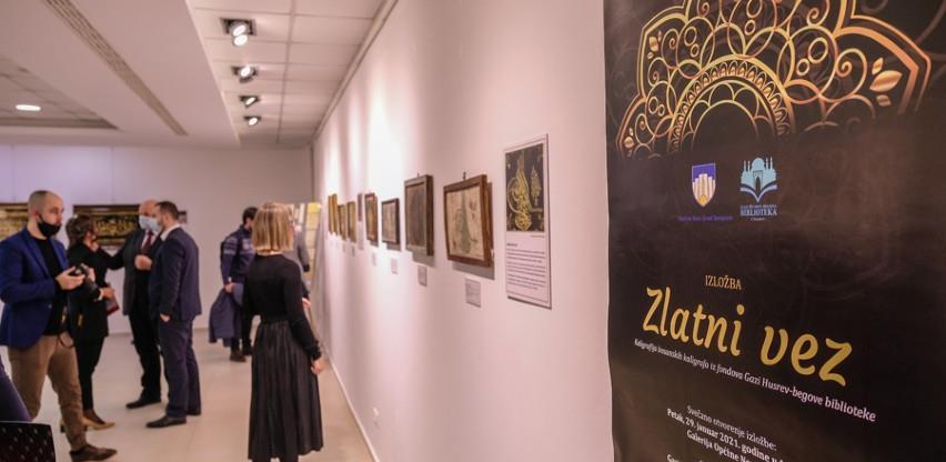 """Izložbom """"Zlatni vez"""" Gazi Husrev-begove biblioteke predstavljeni radovi sedam bh.autora kaligrafije"""