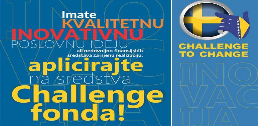 Objavljen drugi poziv za dodjelu bespovratnih sredstava Challenge fonda