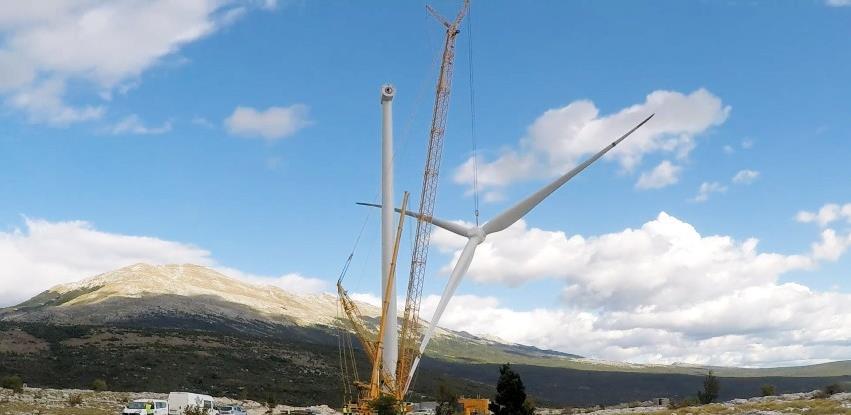 VE Podveležje: Završena montaža prvog vjetroagregata