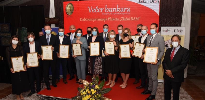 Održana 'Večer bankara', uručena tradicionalna bankarska priznanja 'Zlatni BAM'
