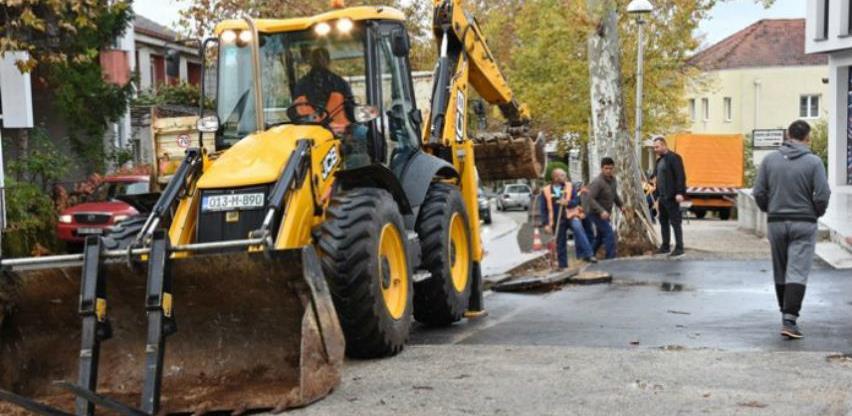 U toku obnova magistralne ceste M-17.4 u središtu Čitluka