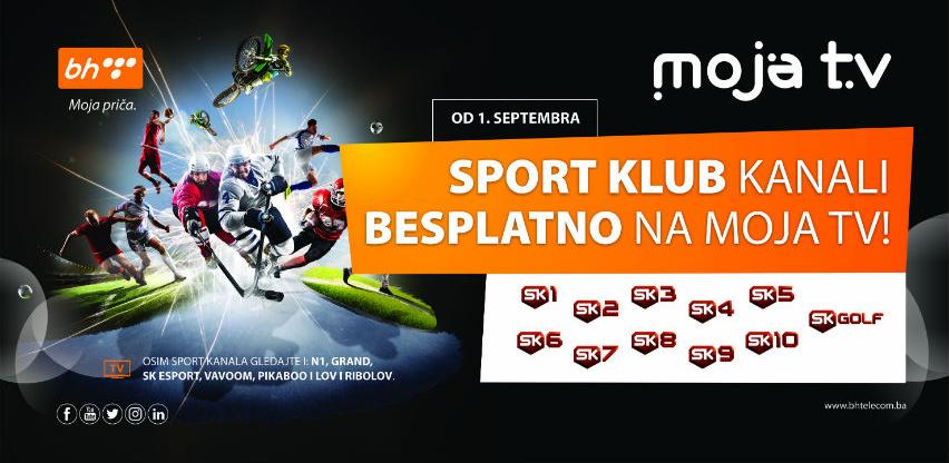 Sport Klub kanali od 1. septembra besplatno na Moja TV