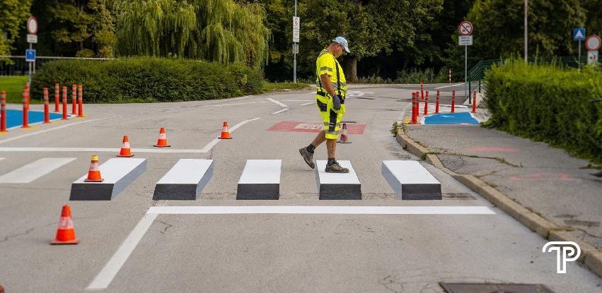 Pješački prijelazi koji 'lebde' u zraku: Slovenci ponosni na nove 3D zebre