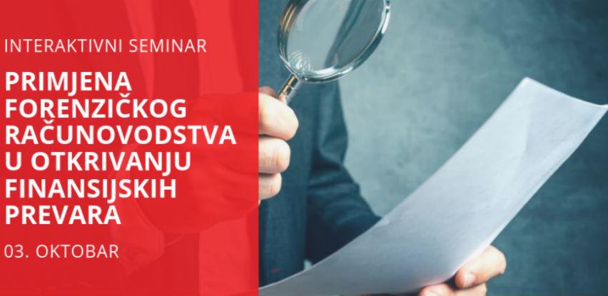 Seminar: Primjena forenzičkog računovodstva u otkrivanju finansijskih prevara