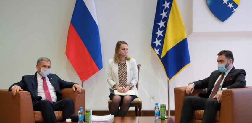 Košarac-Minihanov: Intenzivirati aktivnosti na unapređenju ekonomskih odnosa