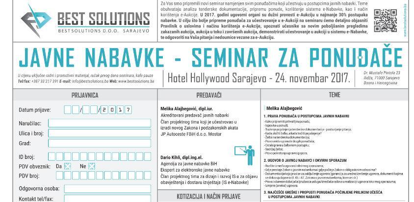 Javne nabavke - Seminar za ponuđače