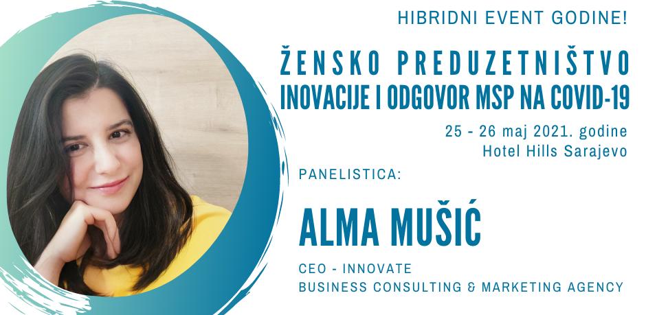 Alma Mušić u jeku epidemiološke krize pokrenula vlastiti biznis