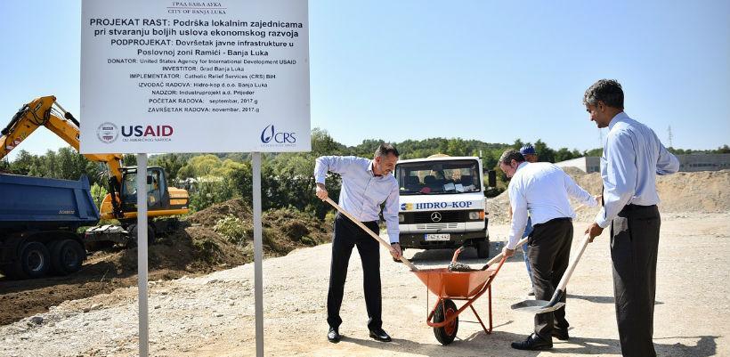 Počeli radovi na izgradnji poslovne zone u Ramićima