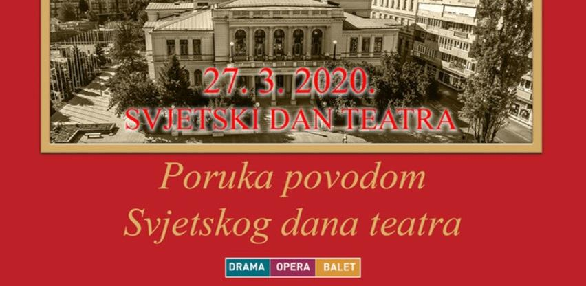 Svjetski dan teatra: Narodno pozorište Sarajevo emituje prigodan online program