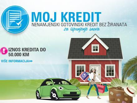 Moja Banka: Moj kredit - Nenamjenski gotovinski kredit bez žiranata