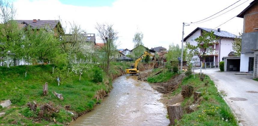 Nastavljeni radovi na trajnoj regulaciji rijeke Dobrinje