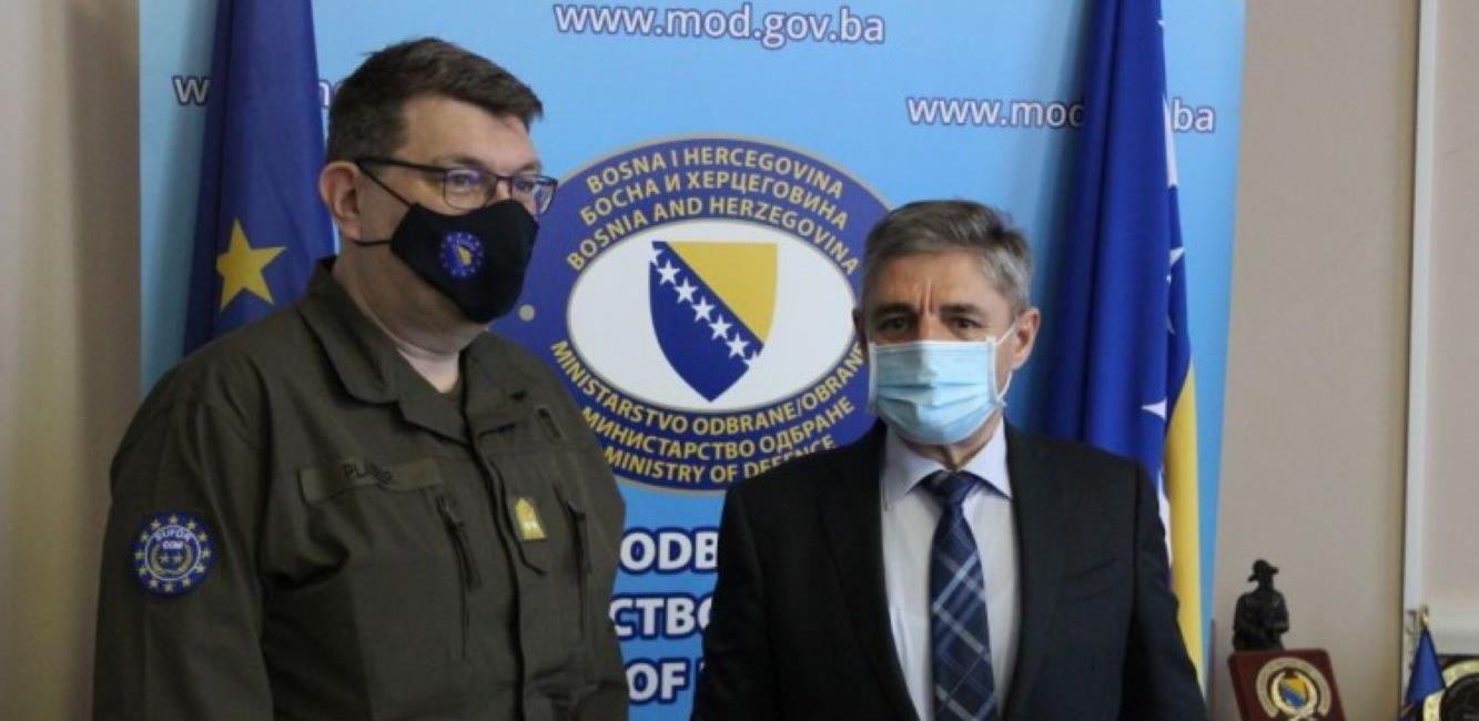 Okolić primio u nastupnu posjetu novog komandanta EUFOR-a