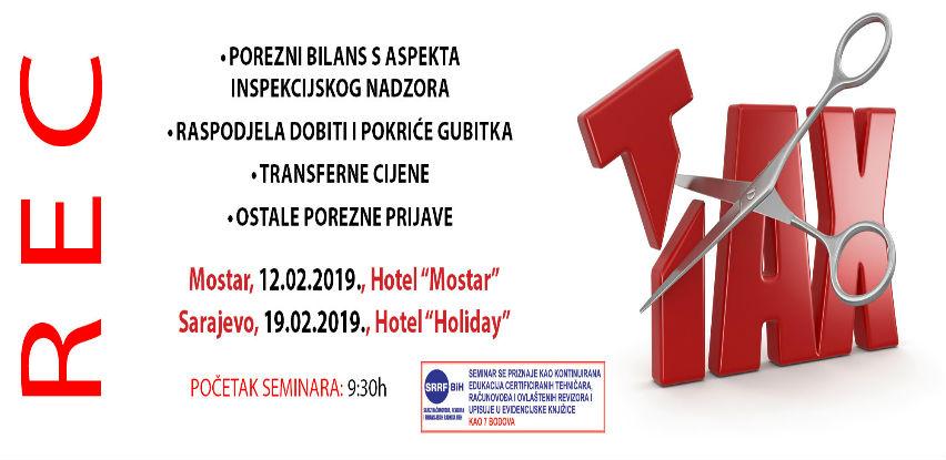 REC seminar za računovođe: Porezni bilans, transferne cijene, porezne prijave..