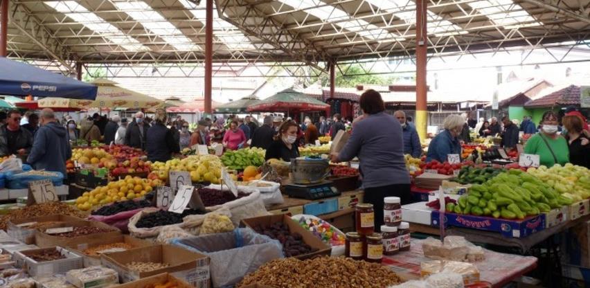 Prodaja poljoprivrednih proizvoda na pijacama u FBiH pala za 25,9 posto