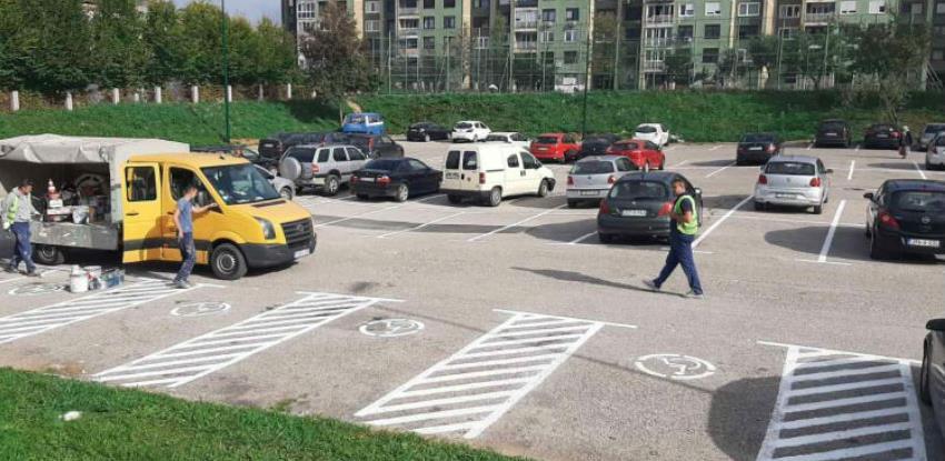 Plastična horizontalna signalizacija na parkinzima u općini Novi Grad Sarajevo