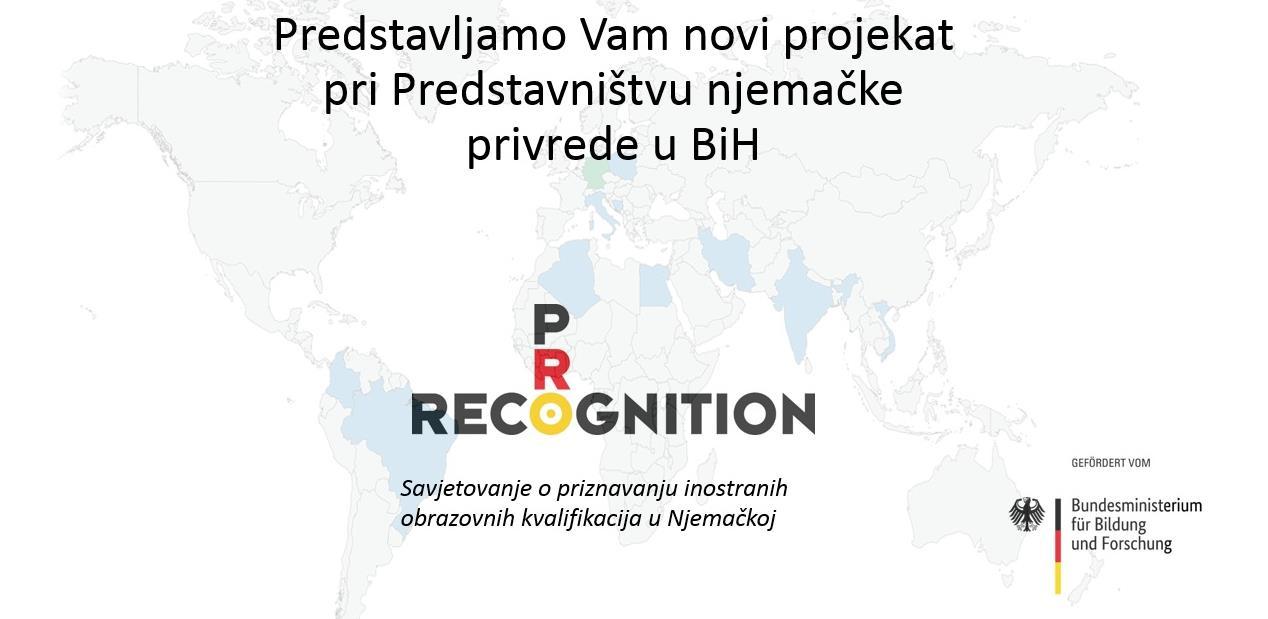 ProRecognition: Novi projekat pri Predstavništvu njemačke privrede u BiH