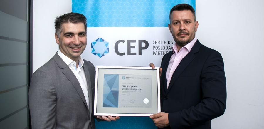 SOS Dječija sela BiH i ove godine dobitnik certifikata Poslodavac Partner
