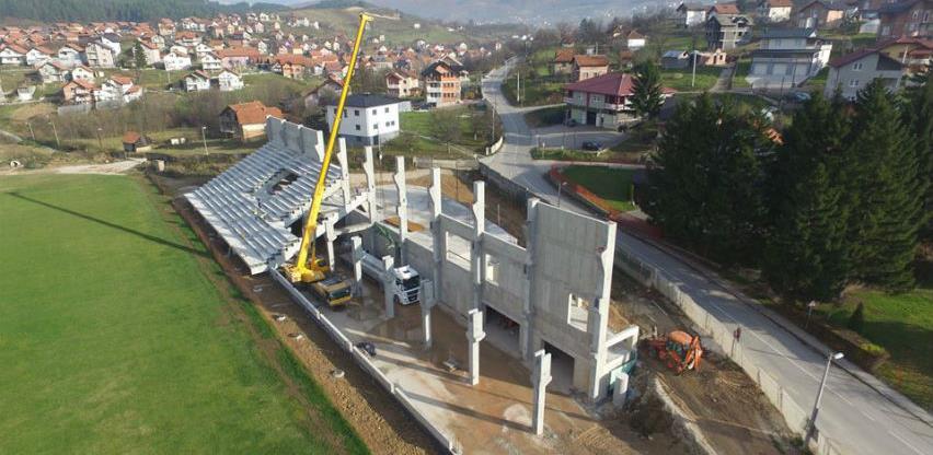 U toku finalni radovi na izgradnji tribina gradskog stadiona u Ilijašu