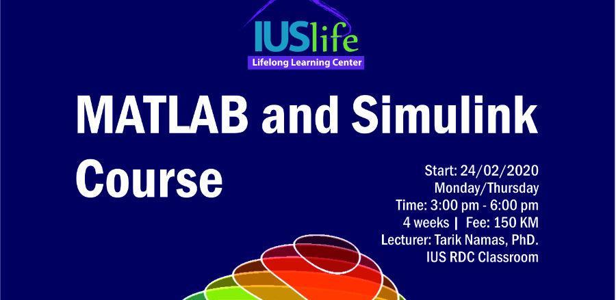 IUS Life centar: Matlab and Simulink kurs u Sarajevu