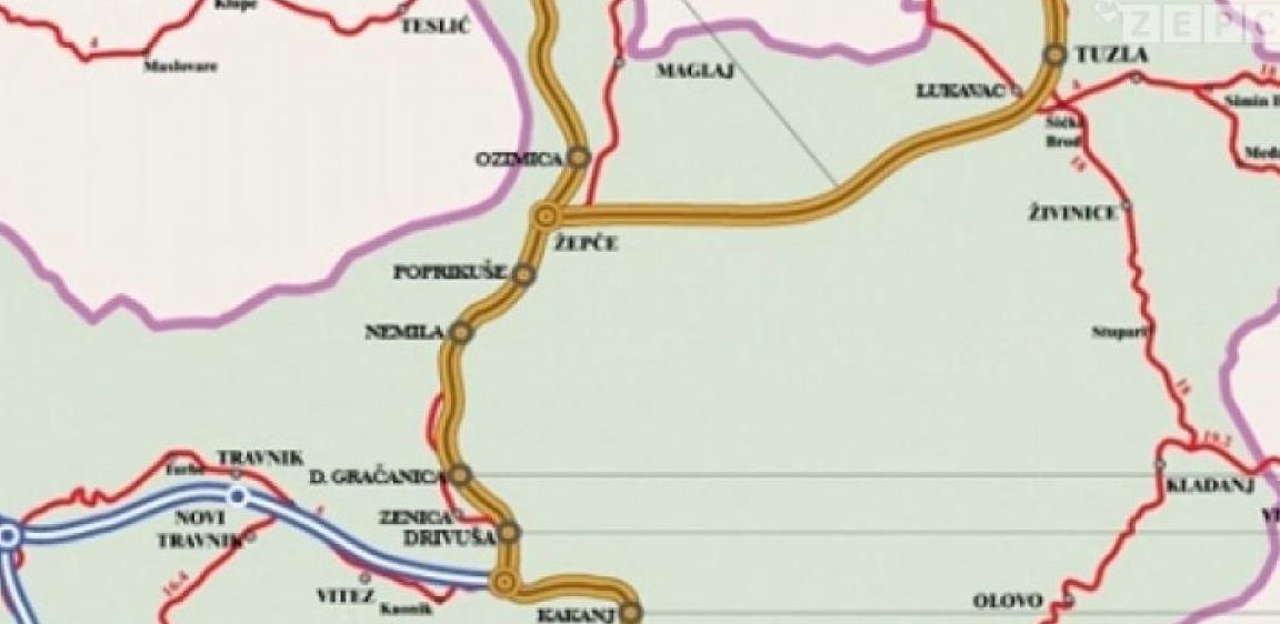 Obustavljen tender za izradu Glavnog projekta autoceste Žepče jug