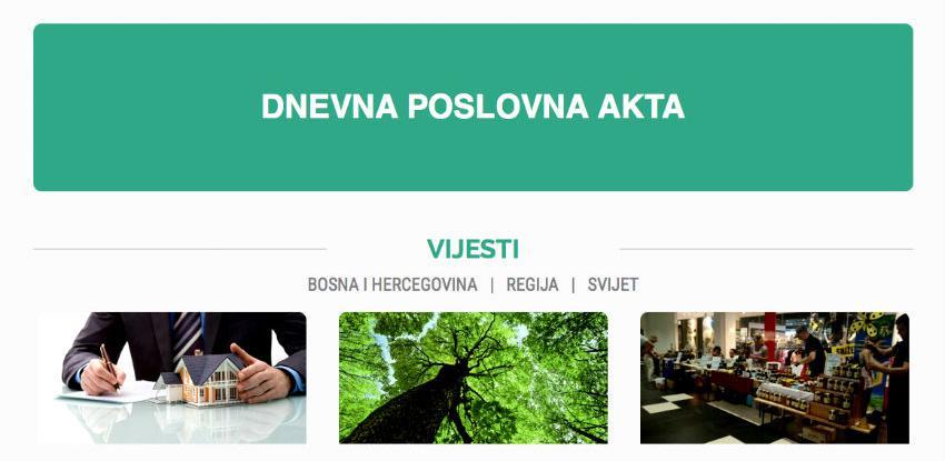Akta vijesti i tenderi u novim redizajniranim i preglednijim newsletterima