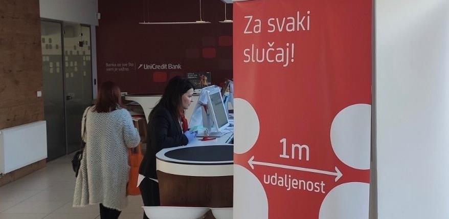 UniCredit Bank provodi set mjera opreza i zaštite zbog epidemije COVID-19
