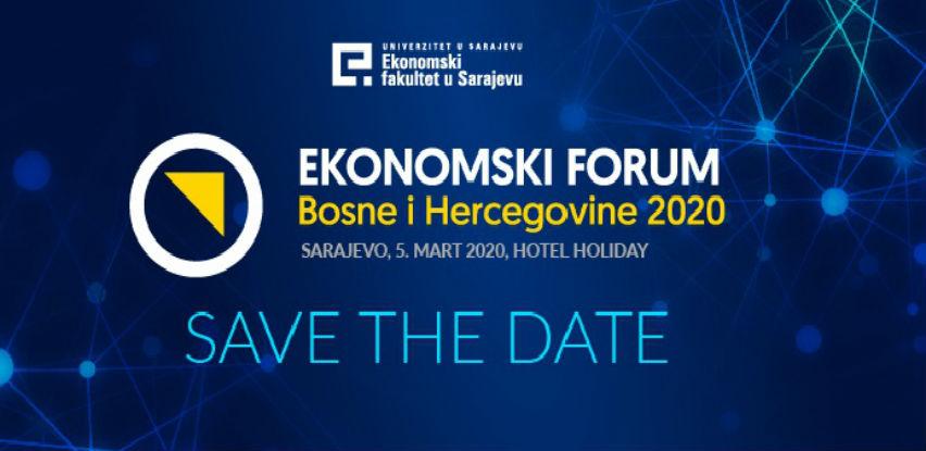 Ekonomski forum Bosne i Hercegovine 2020 5. marta u Sarajevu