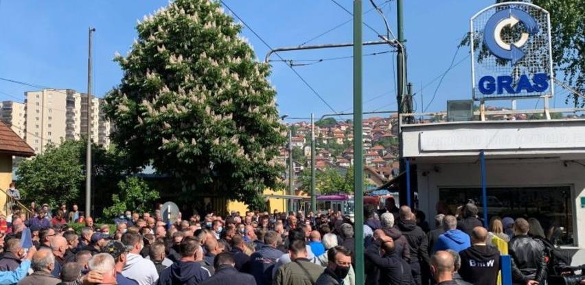Radnici GRAS-a ponovo protestuju u Sarajevu