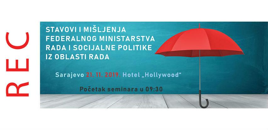REC seminar: Stavovi i mišljenja ministarstva iz oblasti rada