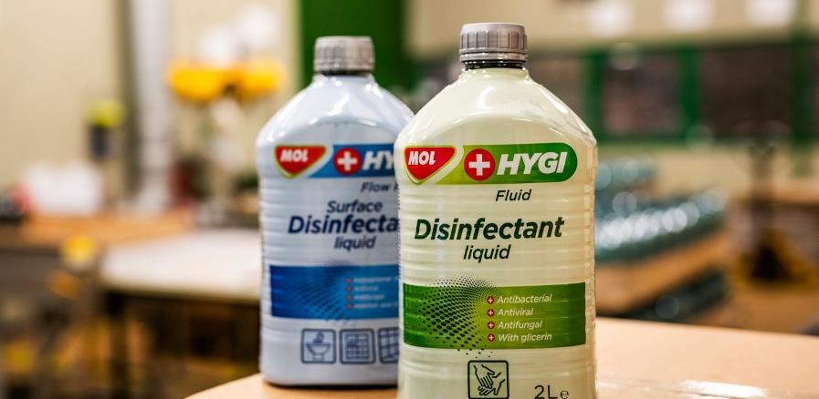 MOL Grupa: Prenamijenjeni pogoni kako bi se proizvodila tekućina za dezinfekciju