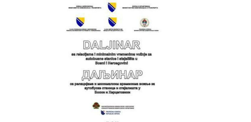 Objavljen Daljinar BiH sa relacijama i minimalnim vremenima vožnje