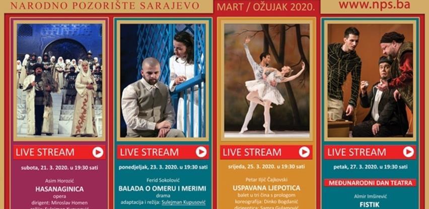 Narodno pozorište Sarajevo počelo sa emitovanjem predstava putem YouTube-a