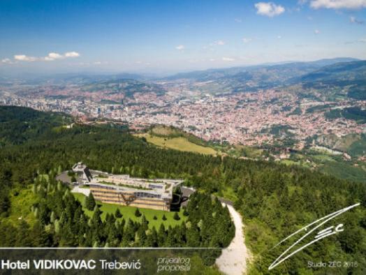 """Predstavljamo: Idejno rješenje budućeg hotela """"Vidikovac"""" na Trebeviću"""