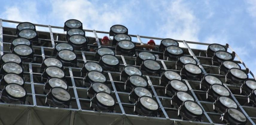 Počeli radovi na obnovi reflektorske rasvjete na Koševu