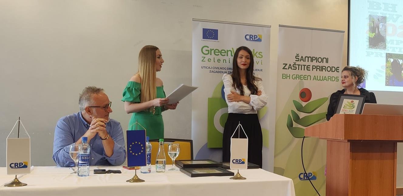 """Dodijeljene nagrade u kampanji """"Šampioni zaštite prirode, BH Green Awards 2021"""""""