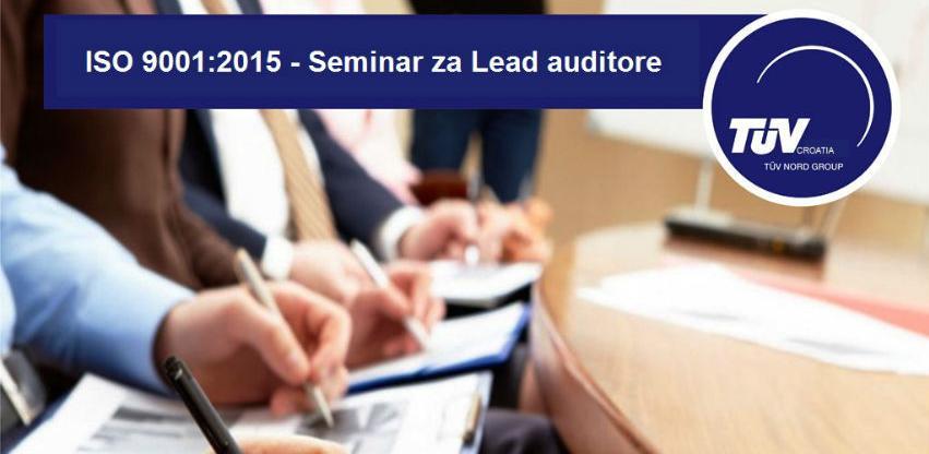Seminar za LEAD auditore – ISO 9001:2015