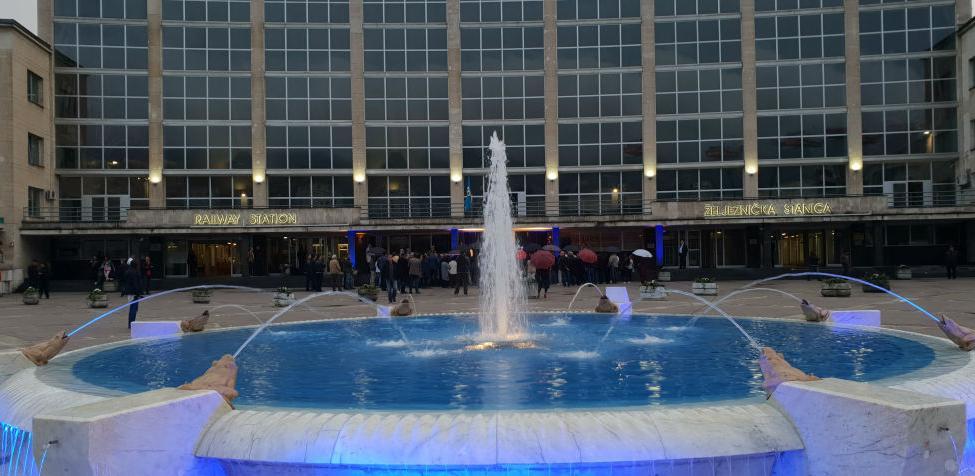 Fontana na Željezničkoj stanici Sarajevo u novom ruhu