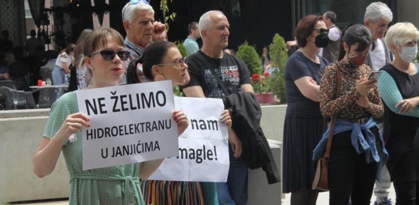 Ekološki aktivisti u Zenici protestovali protiv gradnje HE Janjići