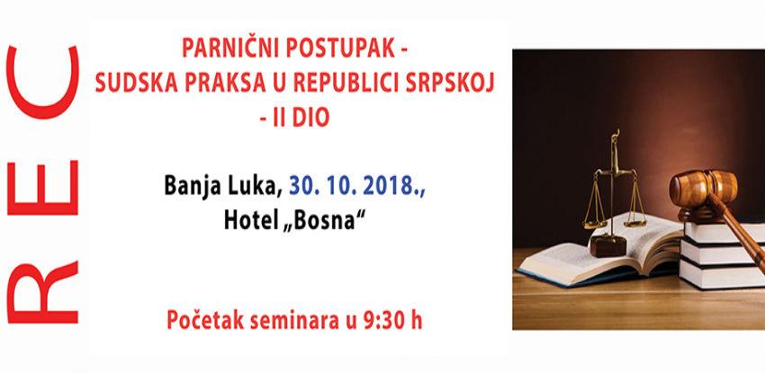 Parnični postupak - sudska praksa u Republici Srpskoj - II dio